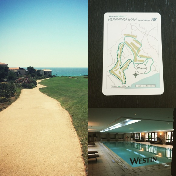 Start in jeden Tag mit einem 5k Lauf ein einem Kilometer im Pool. Herrlich!